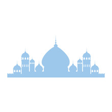 Taj Mahal Silhouette Icon Vector Illustration Design