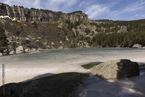 Fotografía  Laguna Negra helada,  Soria.