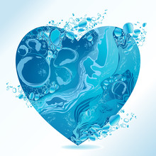 Vector Water Heart