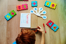 Little Boy Learning Numbers, M...