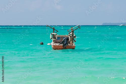 Fishing boat. Port Olry village in N.E.Espiritu Santo island-Sanma province-Vanuatu.