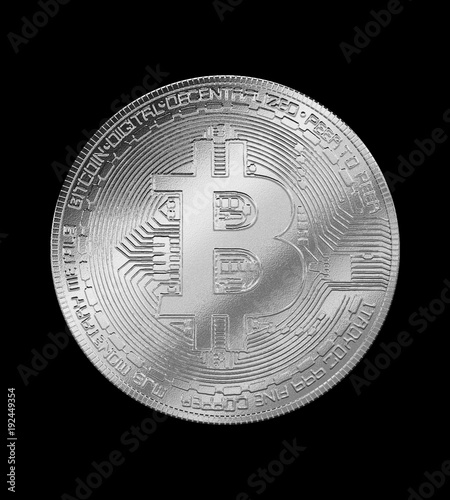 Bitcoin silver coin cryptocurrency isolated background buy this bitcoin silver coin cryptocurrency isolated background ccuart Gallery