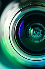 The Camera Lens And Light Green