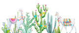 Watercolor cactus composition - 192451195