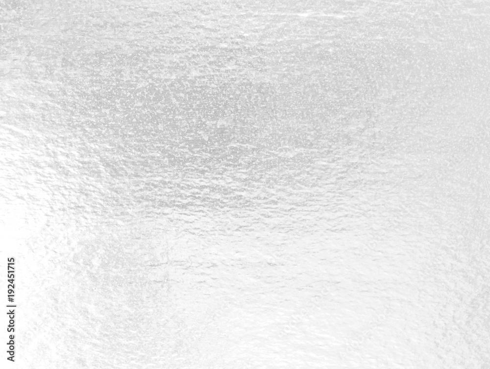 Fototapety, obrazy: Shiny leaf silver foil pape