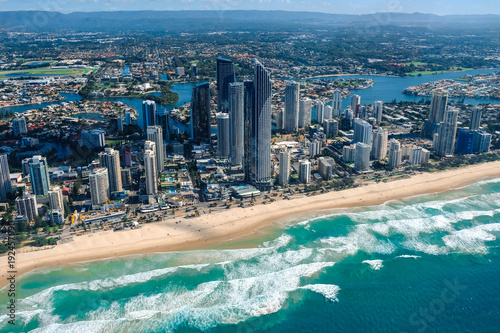 Aerial view of Surfers Paradise on the Gold Coast - host city for the 2018 Commo Tapéta, Fotótapéta