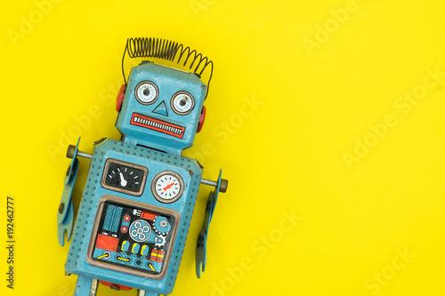 retro robot toy Fotobehang