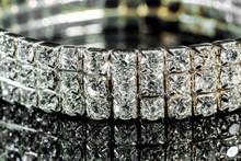Bracelet With Diamonds Close-u...