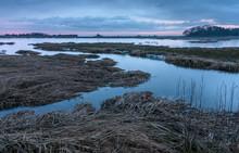 Salt Marsh At Sunrise
