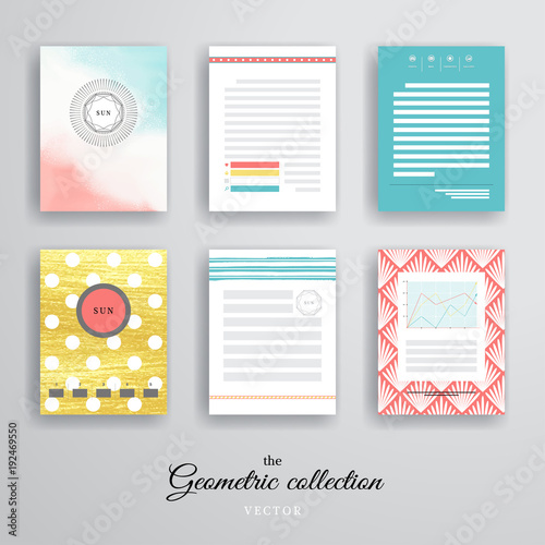 Vector Set Of Poster Templates For Business Flyers Posters And