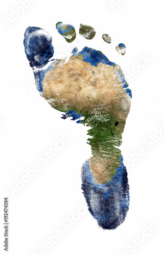 Photographie Foot print of Africa