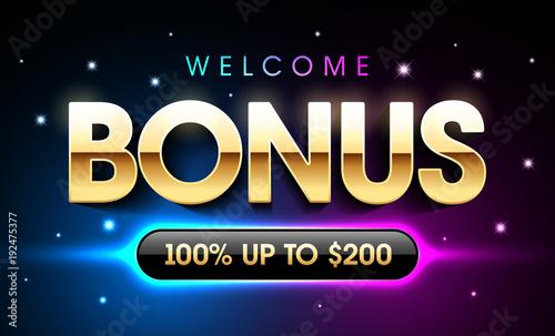 Fototapeta Welcome Bonus casino banner, first deposit bonus obraz