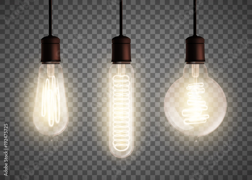 Photo  Edison light bulb