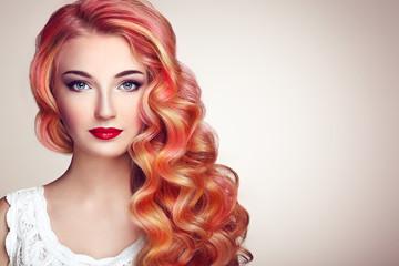 Beauty Fashion Model Girl w...