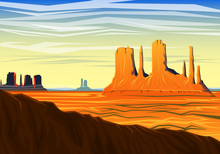 Mountain And Monument Valley, ...