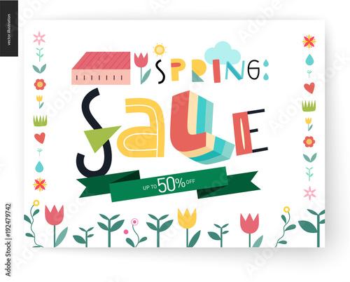 4633da2fa7a Spring sale poster - a shop announcement