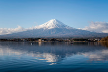 Mount Fuji At Lake Kawaguchiko...