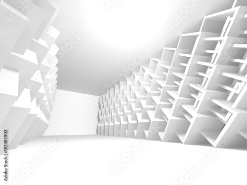 Fototapety, obrazy: White Architecture Construction Modern Interior Background