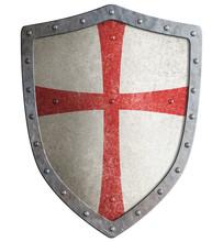 Metal Shield Of Medieval Templ...