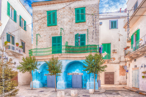 Photo Ancient historical center of Monopoli, Puglia, Italy