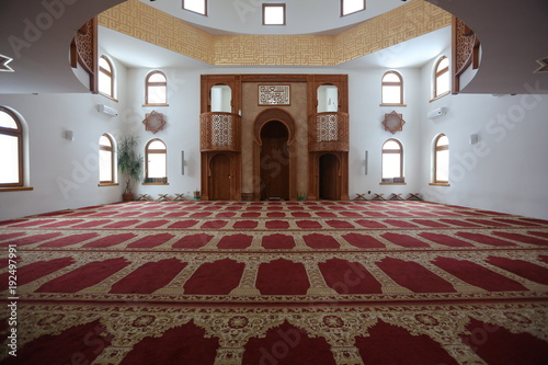 Fotografie, Obraz Interior of the mosque Omer ibn Hattab, Sarajevo, Bosnia and Herzegovina