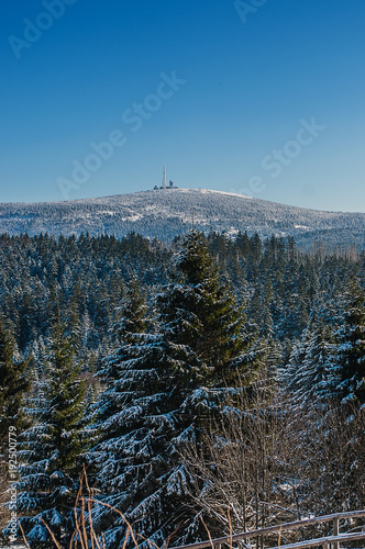 Papiers peints Cappuccino Winter Landscape Harz National Park
