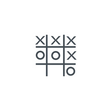 Tic Tac Toe Icon. Sign Design