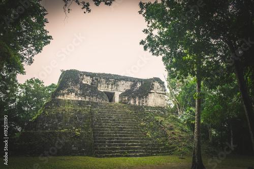 Plakat Ruiny Tikal, Gwatemala