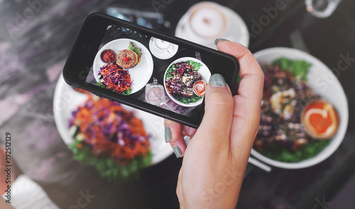 Cadres-photo bureau Magasin alimentation Food photo of healthy food. for social networks