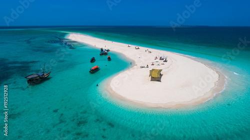 Poster Zanzibar Sand bank near Stone Town. Zanzibar, Tanzania.