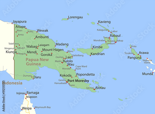 Fototapeta Papua New Guinea-World-Countries-VectorMap-A