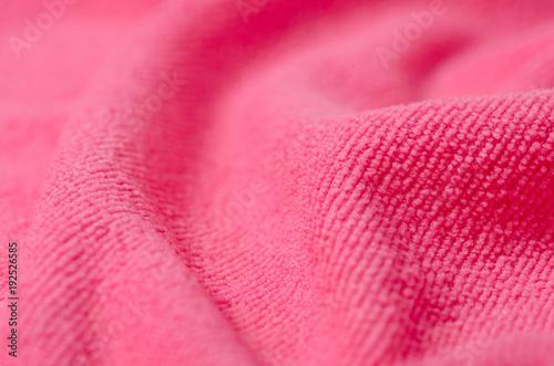 Fotografía Pink towel microfiber macro