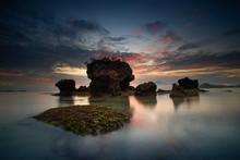 Coastal Rock Formation, Kertasari, Sumbawa, West Nusa Tenggara, Indonesia