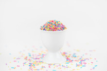 Colorful Pastel Sprinkles In A...