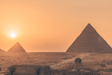 Sunset On The Pyramids Of Egypt