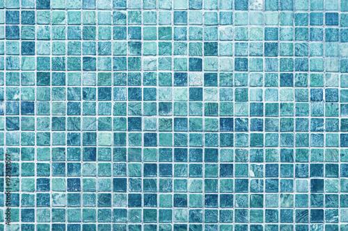 Obraz na plátně Blue marble mosaic tile texture background