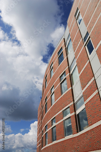Staande foto Industrial geb. Low angle view on company building