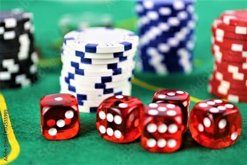 An concept Image of a Casino gambling Wallpaper Mural