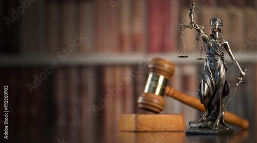 Fotografering  Law and Justice concept. Old Library