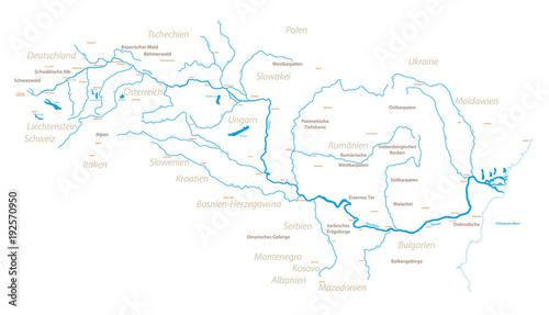 Valokuva  Die Donau und Umgebung