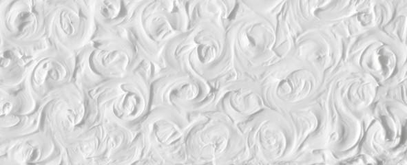 Tekstura bijelih ruža obojena je bojama s volumetrijskim efektom. Predložak za proslavu vjenčanja.