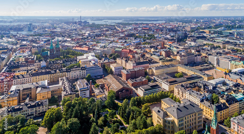 Aerial (drone) photo of Helsinki city, Finland