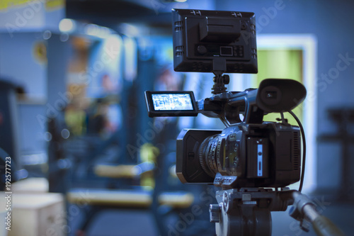 Vászonkép video camera on a tripod