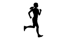 Silhouette Of A Woman Running