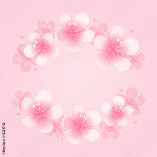 Light pink flowers frame isolated on pink background apple tree light pink flowers frame isolated on pink background apple tree flowers cherry blossom mightylinksfo