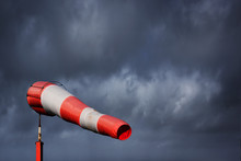 Windsock And Stormy Sky - Stor...
