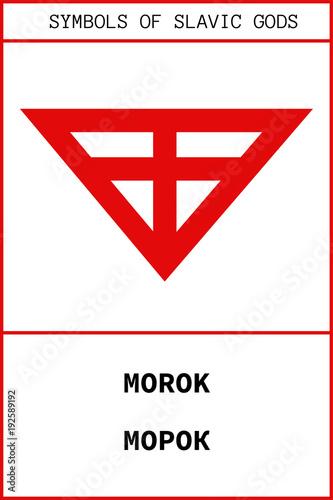 Canvas Print Symbol of MOROK ancient slavic god