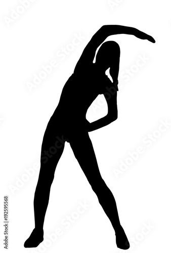 Photo frau piktogramm sport dehnen fitness