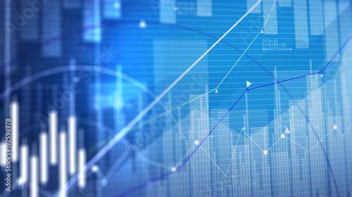 Photo  Stock market chart. Business graph background.