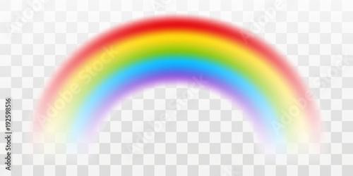 Obraz na plátně Vector rainbow with transparent effect